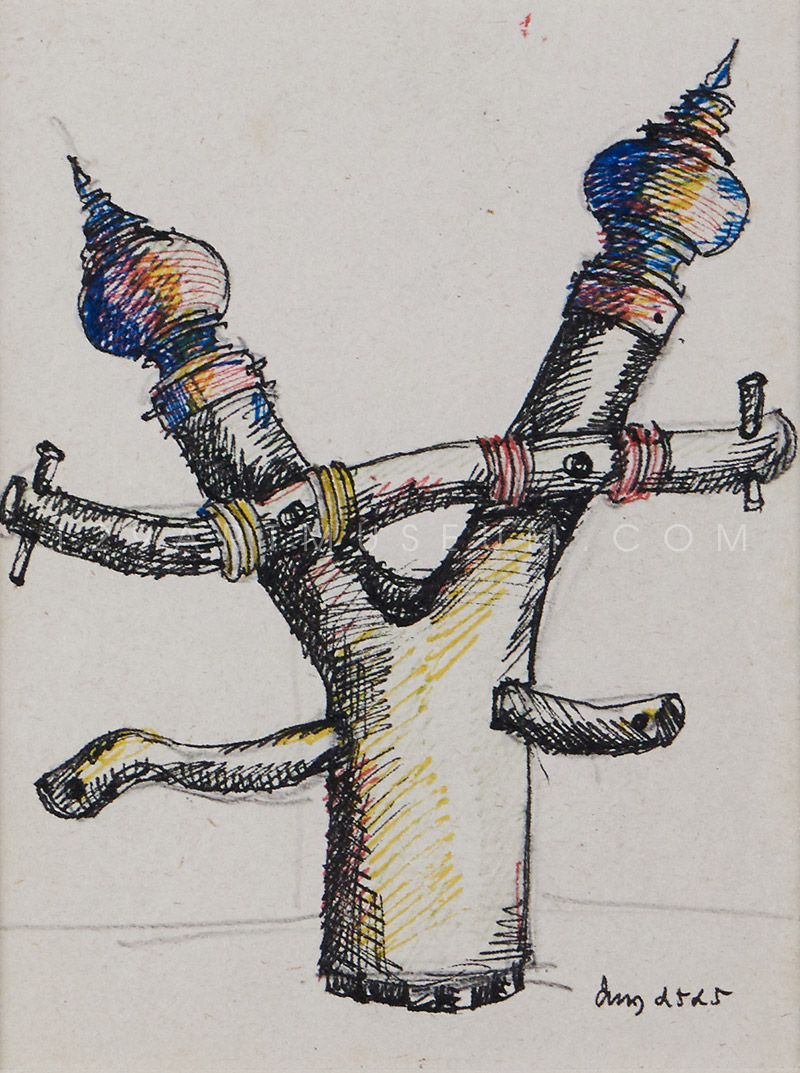 Sculpture Drawing - 1982