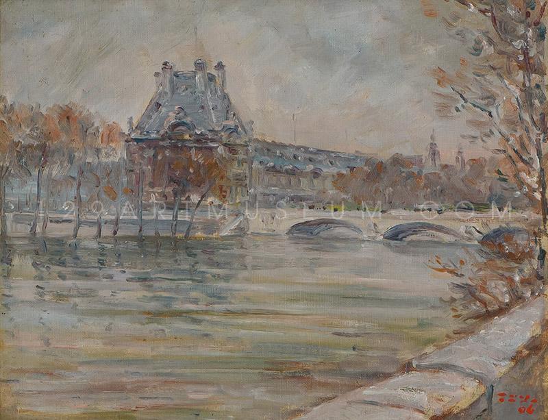 Le Louvre en Hiver - 1963