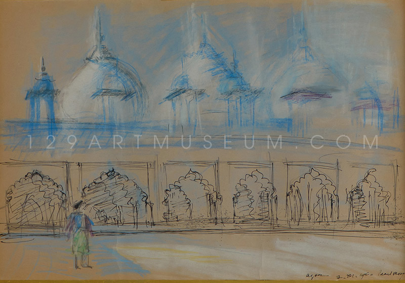 Pearl Mosque, Agra-India - 1960