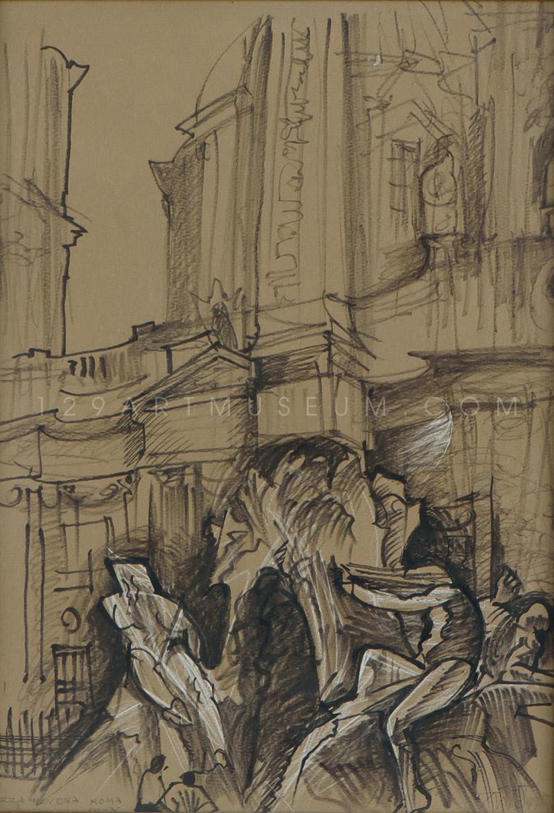Piazza Navona Roma - 1953