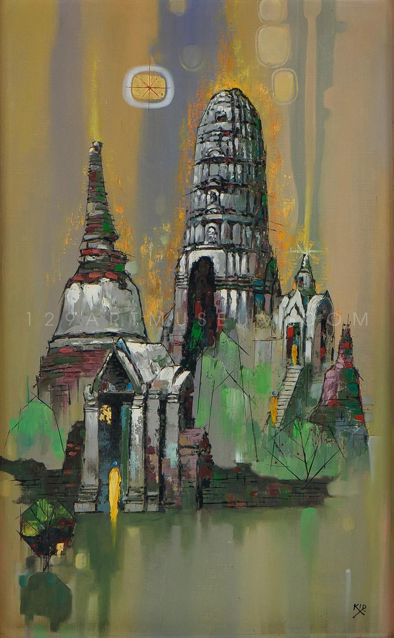 Pagodas at Wat Mahathat, Ayudhya